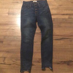 10' high rise skinny denim madewell jeans
